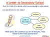 Letter to secondary school (slide 10/48)