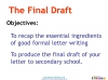 Letter to secondary school (slide 46/48)