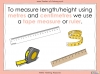 Measuring Length and Height Using Standard Units - Year 1 (slide 18/31)