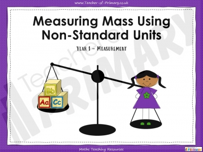Measuring Mass Using Non-Standard Units - Year 1
