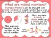 Mixed Numbers and Improper Fractions - Year 5 (slide 18/80)