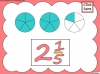 Mixed Numbers and Improper Fractions - Year 5 (slide 26/80)