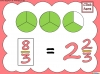 Mixed Numbers and Improper Fractions - Year 5 (slide 30/80)