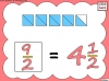 Mixed Numbers and Improper Fractions - Year 5 (slide 34/80)