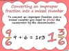 Mixed Numbers and Improper Fractions - Year 5 (slide 35/80)