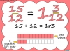 Mixed Numbers and Improper Fractions - Year 5 (slide 42/80)