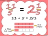Mixed Numbers and Improper Fractions - Year 5 (slide 43/80)