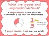 Mixed Numbers and Improper Fractions - Year 5 (slide 8/80)