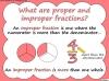 Mixed Numbers and Improper Fractions - Year 5 (slide 9/80)