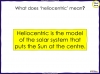 Models of the Solar System - Year 5 (slide 21/30)