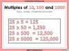 Multiples of 10, 100 and 1000 - Year 5 (slide 1/21)
