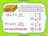 Multiplying 2-Digits by 1-Digit - Year 3 (slide 12/21)