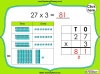 Multiplying 2-Digits by 1-Digit - Year 3 (slide 5/21)