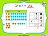 Multiplying 2-Digits by 1-Digit - Year 3 (slide 8/21)