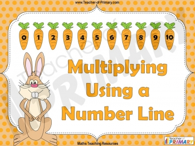 Multiplying Using a Number Line - Year 1