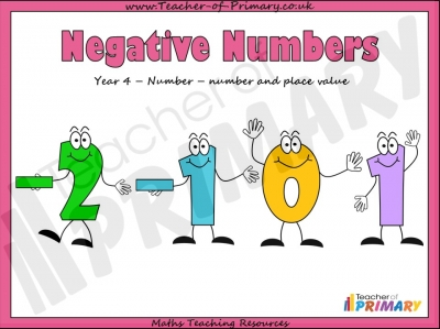 Negative Numbers - Year 4