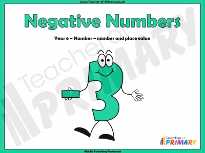Negative Numbers - Year 6
