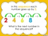 Number Sequences - Year 2 (slide 4/22)