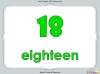 Number Words - Eleven to Twenty (slide 13/41)