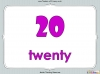 Number Words - Eleven to Twenty (slide 15/41)