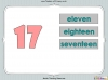 Number Words - Eleven to Twenty (slide 18/41)