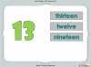 Number Words - Eleven to Twenty (slide 19/41)