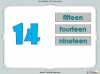 Number Words - Eleven to Twenty (slide 24/41)
