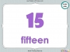 Number Words - Eleven to Twenty (slide 30/41)