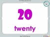 Number Words - Eleven to Twenty (slide 35/41)
