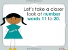 Number Words - Eleven to Twenty (slide 5/41)