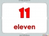 Number Words - Eleven to Twenty (slide 6/41)