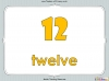 Number Words - Eleven to Twenty (slide 7/41)