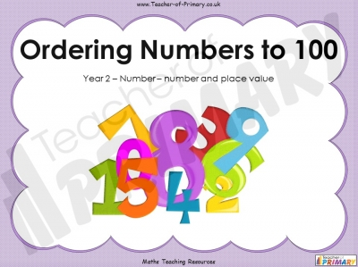 Ordering Numbers to 100 - Year 2