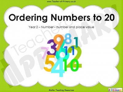 Ordering Numbers to 20 - Year 2