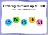 Ordering Numbers up to 1000 - Year 3 (slide 1/34)