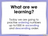 Ordering Numbers up to 1000 - Year 3 (slide 2/34)