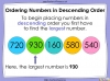Ordering Numbers up to 1000 - Year 3 (slide 20/34)