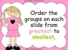 Ordering Objects - Year 1 (slide 2/32)