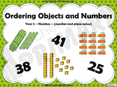 Ordering Objects and Numbers - Year 2 teaching resource