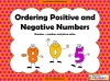 Ordering Positive and Negative Numbers (slide 1/14)