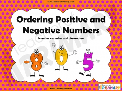 Ordering Positive and Negative Numbers
