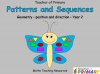 Patterns and Sequences - Year 2 Geometry (slide 1/40)