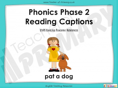 Phonics Phase 2 Captions - EYFS teaching resource