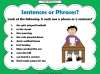 Phrases and Sentences (slide 5/9)