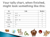Pictograms, Tally Charts and Alphabetical Ordering (slide 12/25)