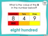 Place Value - Hundreds, Tens and Ones - Year 3 (slide 39/53)