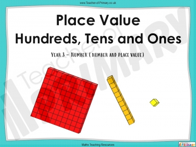 Place Value - Hundreds, Tens and Ones - Year 3