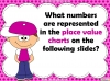 Place Value Charts - Year 2 (slide 3/44)