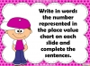 Place Value Charts - Year 2 (slide 31/44)