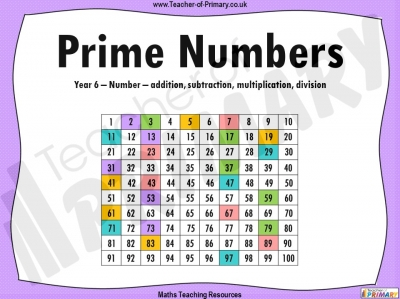 Prime Numbers - Year 6